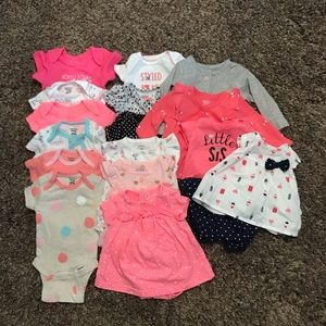 Newborn lot. Onesies, bubbles and cardigans
